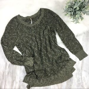 Free People Olive Sweater